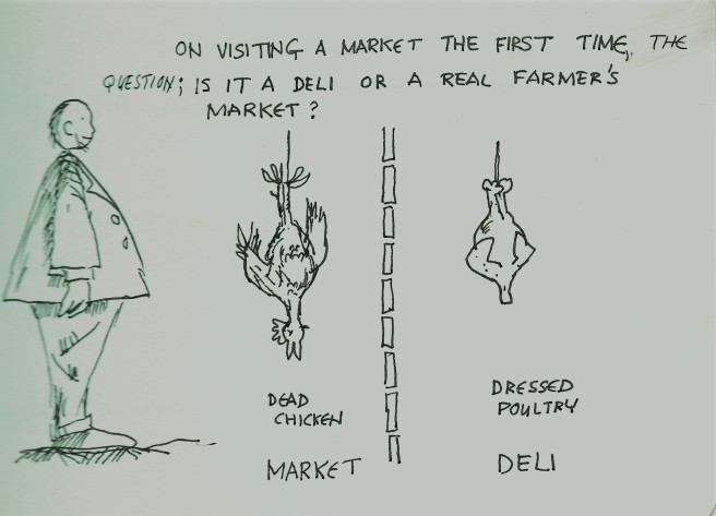 Market cartoon