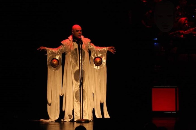 From stage show Coronation 2009 planet coat Floris Louw Picture: Lorinda van den Berg