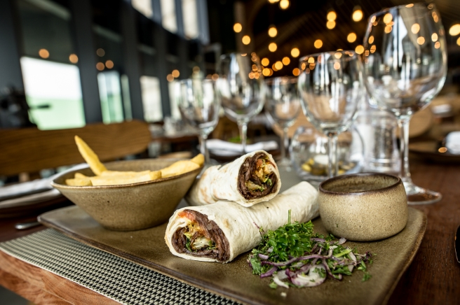 Nomad shawarma wrapped