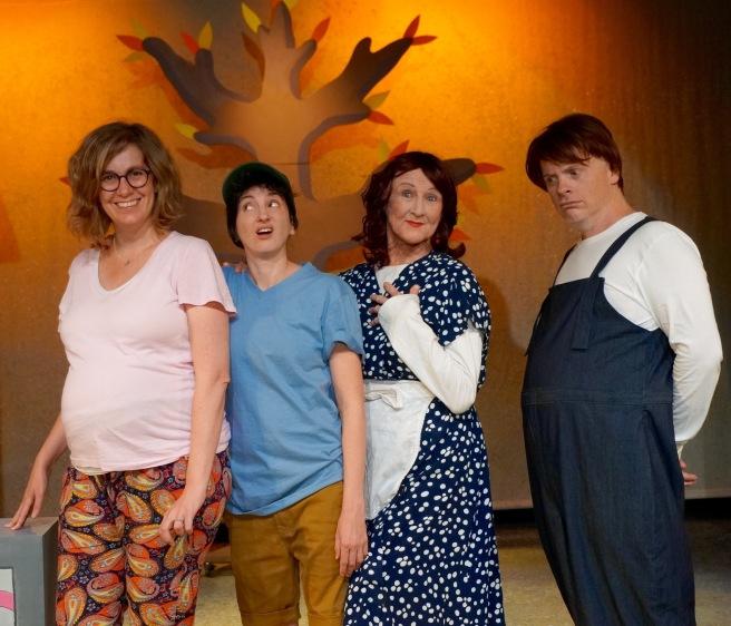Boy director Jenine Collocott, Taryn Bennett, Toni Morkel and James Cairns
