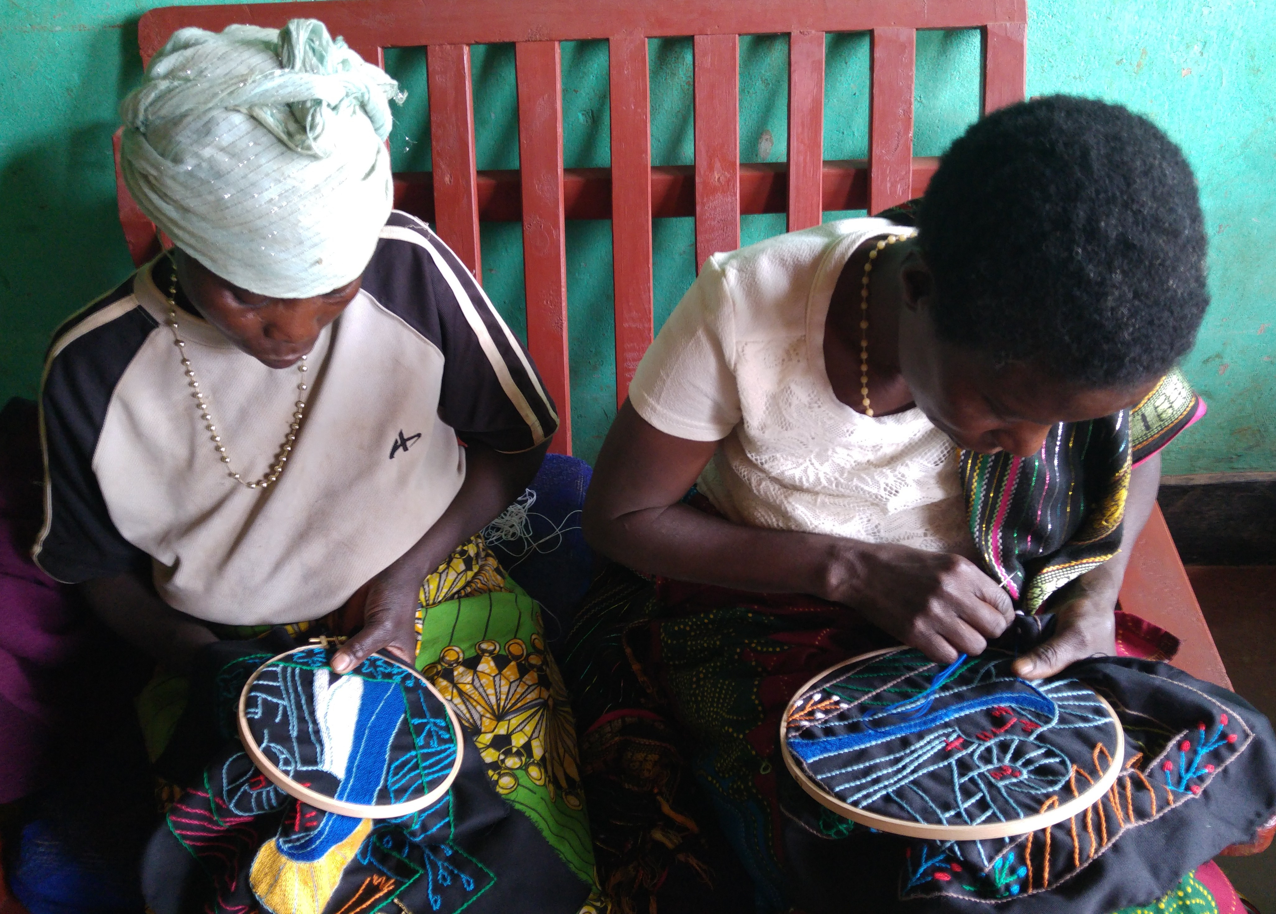 Women from the Kibeho Embroidery project