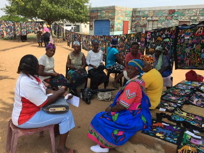Women from the Mapula Embroidery Trust in the Winterveld