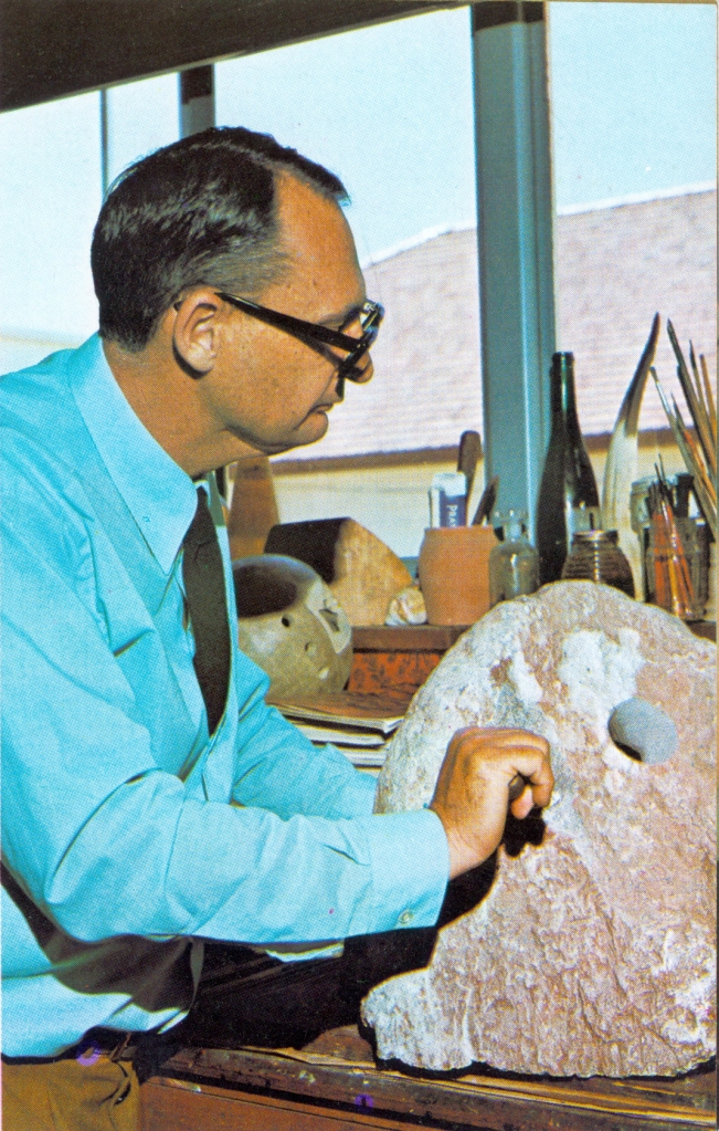 Jack sculpting in the 70's at Tech