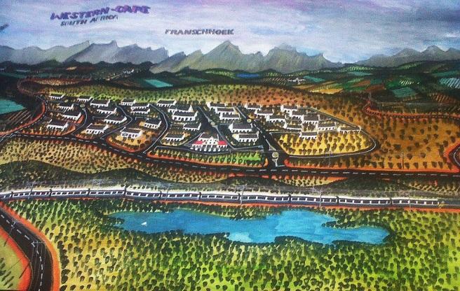 Panorama of Franschhoek by Titus Matiyane