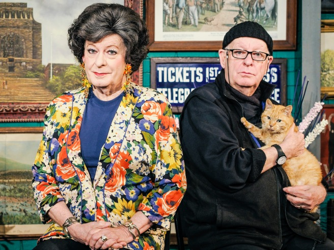 Tannie Evita and Pieter Dirk Uys photo by Stefan Hunter