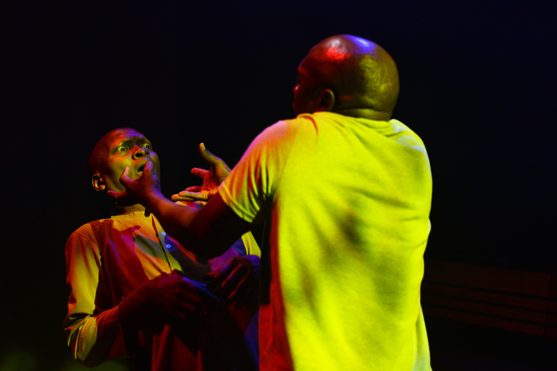 Warren masemola (left) and Siyabonga Thwala into their storytelling