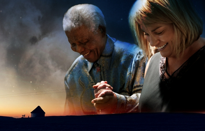 Zelda with Nelson Mandela