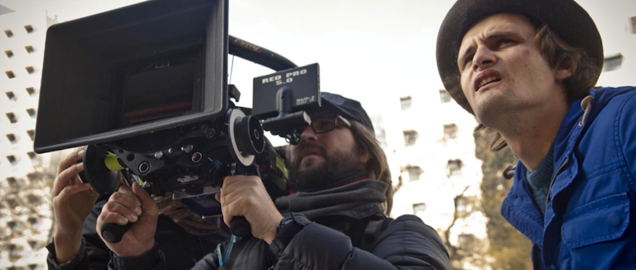 Adam Heyns on set