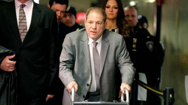 Harvey Weinstein at court