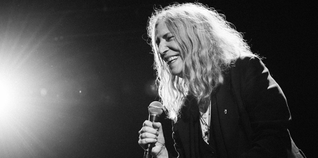 Patti Smith on stage