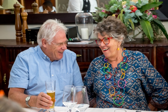 Prue Leith and partner