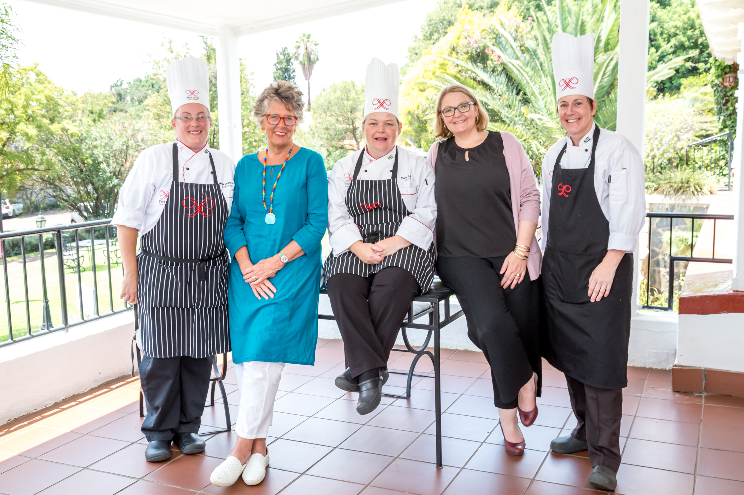 Prue with the Prue Leith staff