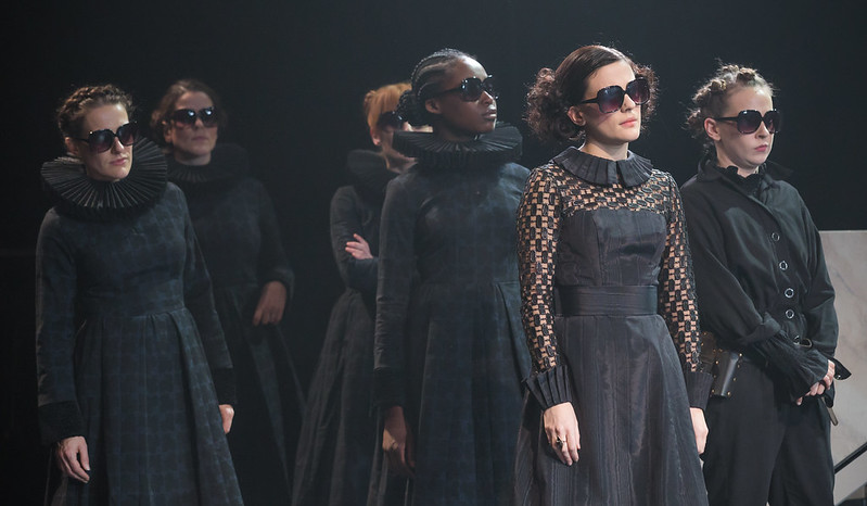 NT Phoebe Fox as Olivia second from the right. Picture Marc Brenner